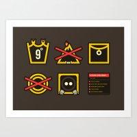 Take Care Ring-bearer Art Print