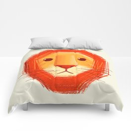Sad lion Comforters