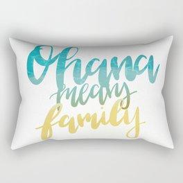 Ohana Means Family Rectangular Pillow