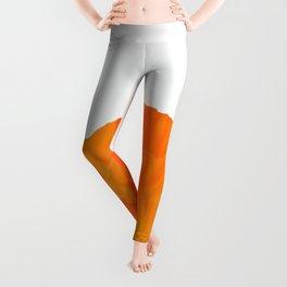 One And Only - Orange Poppy White Background #decor #society6#buyart Leggings