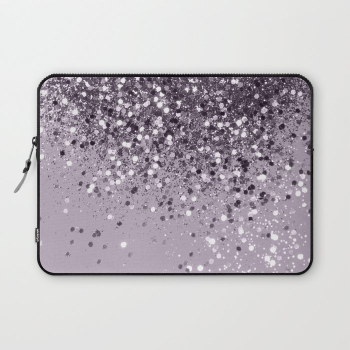 Sparkling Lavender Lady Glitter #2 #shiny #decor #art #society6 Laptop Sleeve