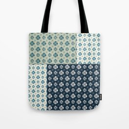 Vintage Tiles #society6 #pattern #indigo Tote Bag
