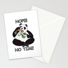 Nope - No Time Stationery Cards