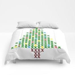 Cross Stitch Christmas Tree Comforters
