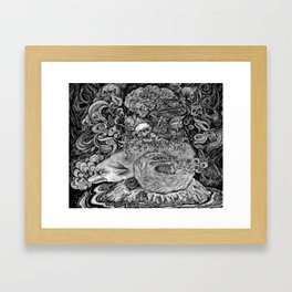 Swamp witch Framed Art Print