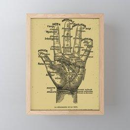 French Palmistry Framed Mini Art Print