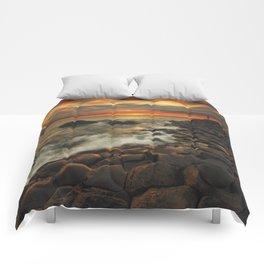 Basaltic Sunset Comforters