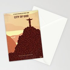 No716 My City of God minimal movie poster Stationery Cards