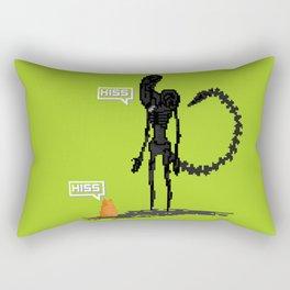 Alien vs Jonesy Rectangular Pillow