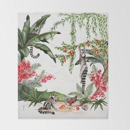 Ring-tailed lemurs of Madagascar .1 Throw Blanket