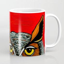 Peaking - Great Horned Owl Coffee Mug