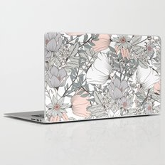 Seamless pattern design with hand drawn flowers and floral elements Laptop & iPad Skin
