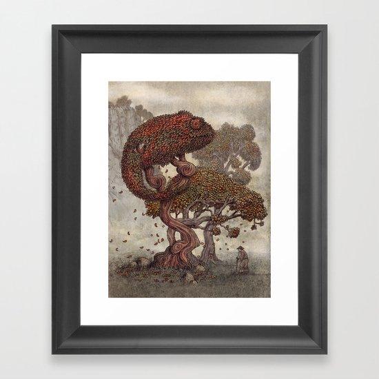 Autumn Chameleon  Framed Art Print