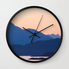 Cool Mountains & Warm Skys Wall Clock