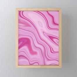 Pink Liquid Marble Watercolor Artwork Framed Mini Art Print