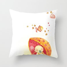 Baby beach Throw Pillow