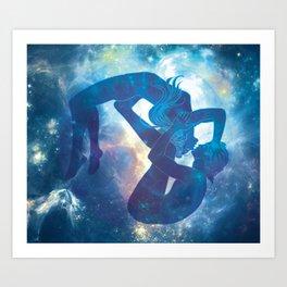 Cosmic bubble dancers Art Print