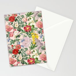 VINTAGE GARDEN  - Pink  Stationery Cards