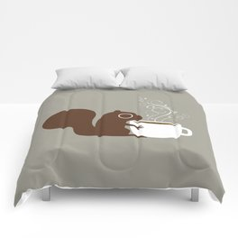 Squirrel Coffee Lover Comforters