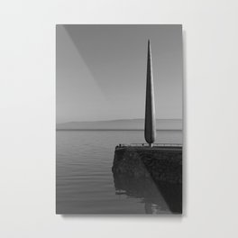 Fid Monument Moville Donegal bw Metal Print