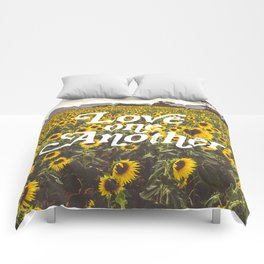 Love One Another Sunflowers Comforters