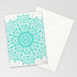 Moroccan Mandala – Turquoise Palette Stationery Cards