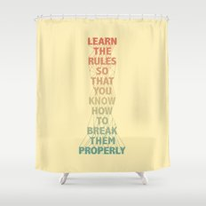 Life Lesson #5 Shower Curtain
