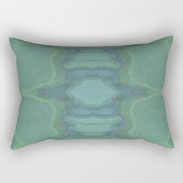 Art Nouveau Green Panel Rectangular Pillow