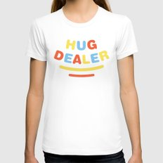 Hug Dealer Womens Fitted Tee White SMALL