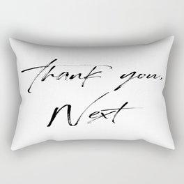 Ariana G. Quote, Thank U, Next, Lyrics, Home Decor, Wall Art, Wall Decor Rectangular Pillow