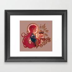 Enby royalty - Prinxe Framed Art Print