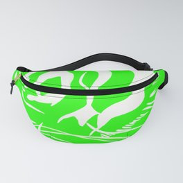 Eye of the tiger - Green & White Fanny Pack