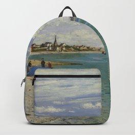 Claude Monet - Regatta at Sainte-Adresse.jpg Backpack