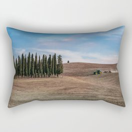 Busy day at Toscany Rectangular Pillow