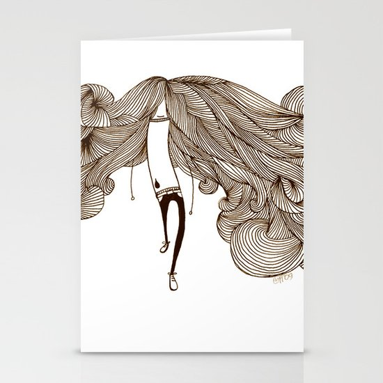 Big Hair Day Stationery Cards