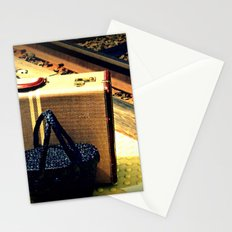 A Vintage Suitcase and A Straw bag Stationery Cards