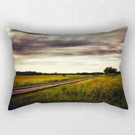 Train Route Rectangular Pillow