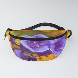 Purple Wildflowers with Gold Poppies by Reay of Light Photography Fanny Pack
