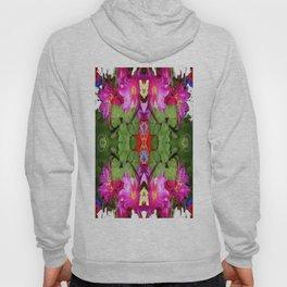 Modern Fuchsia Flowers Still Life Abstract Hoody