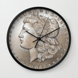 Morgan Dollar Wall Clock