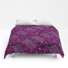 Charming shiny Chains, purple pink Comforters