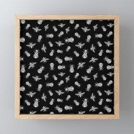 occult bees Framed Mini Art Print