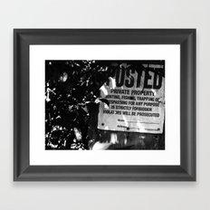 Trespassing Framed Art Print