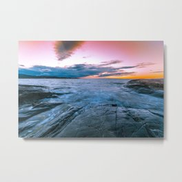 Arctic sunset Metal Print