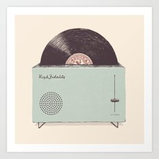 High Fidelity Toaster Art Print