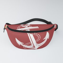 Nautical Anchor and Stars Fanny Pack
