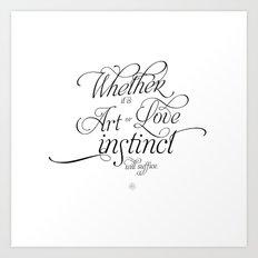 On Art & Love Art Print