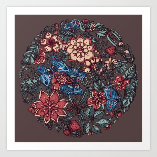 Circle of Friends in Colour Art Print