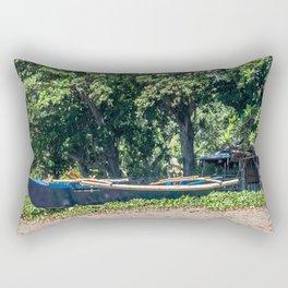 Blue Filipino Kayak Rectangular Pillow