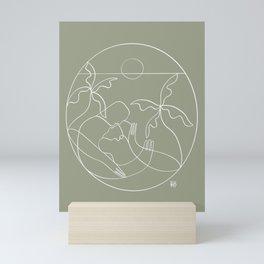 Dreamers no.5 (sage) Mini Art Print